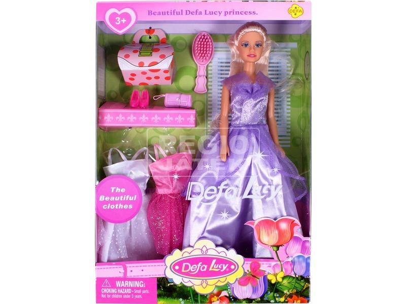 kép nagyítása Defa Lucy hercegnő baba három ruhával - 30 cm, többféle