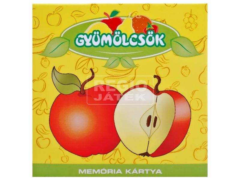 Gyümölcsök memória kártya