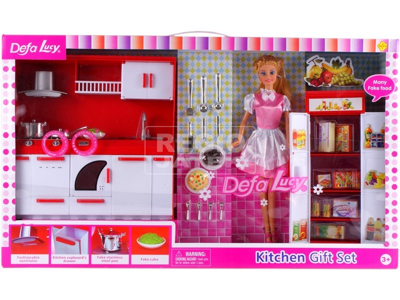 kép nagyítása Defa Lucy baba konyhája babával - 30 cm