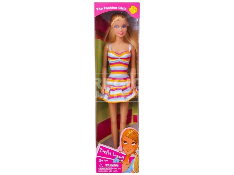 kép nagyítása Defa Lucy baba nyári ruhában - 29 cm, többféle