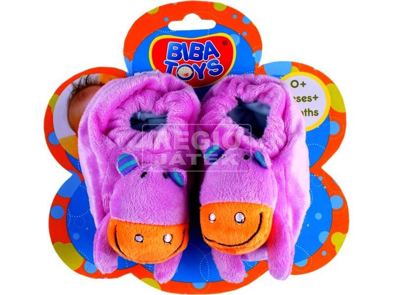 Textil cipőcske bébijáték - többféle