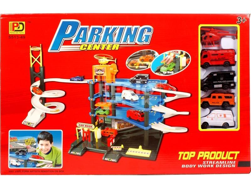Parkolóház 4 autóval és helikopterrel