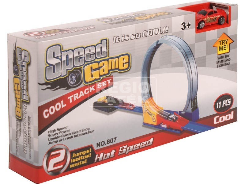 Speed Game állítható 11 darabos autóverseny pálya