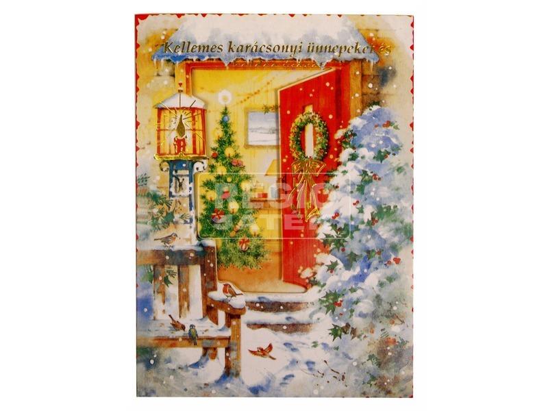 Zenélő karácsonyi képeslap
