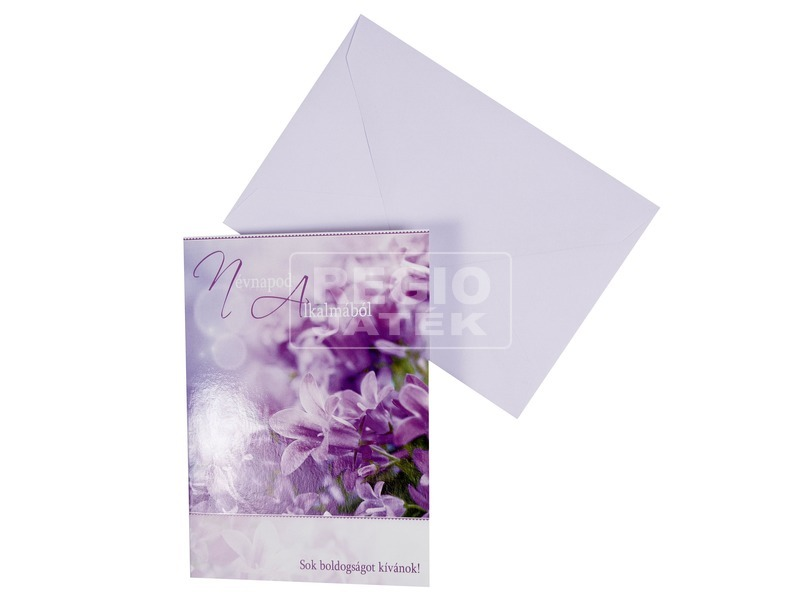 Virágos képeslap borítékkal - többféle