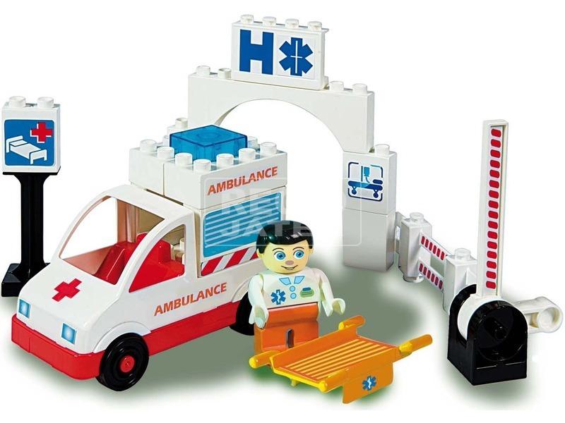Unico Plus mentőautó 19 darabos építőjáték