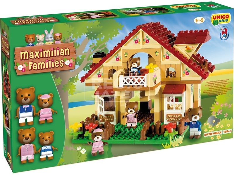 kép nagyítása Maximilian Family macik háza építőjáték