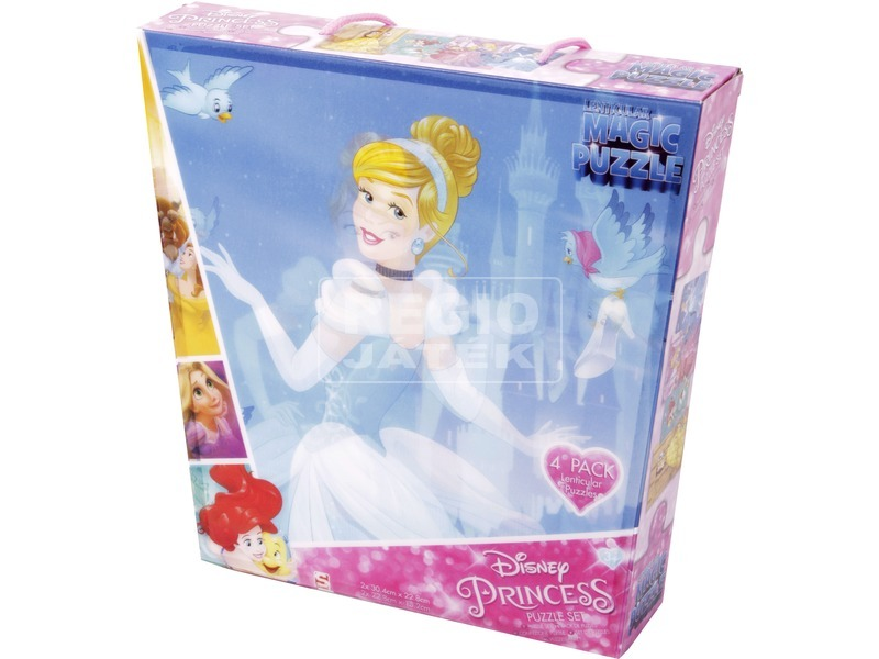 Puzzle 4 db /csomag - Hercegnők
