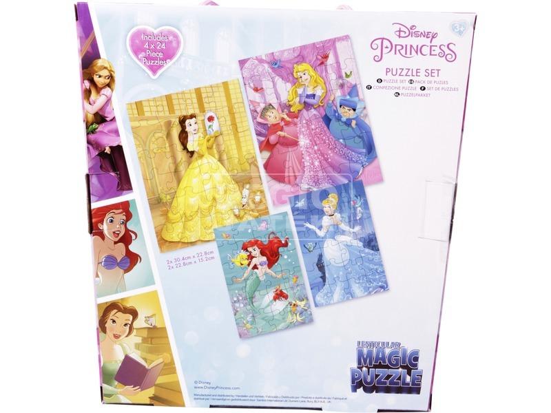 kép nagyítása Puzzle 4 db /csomag - Hercegnők