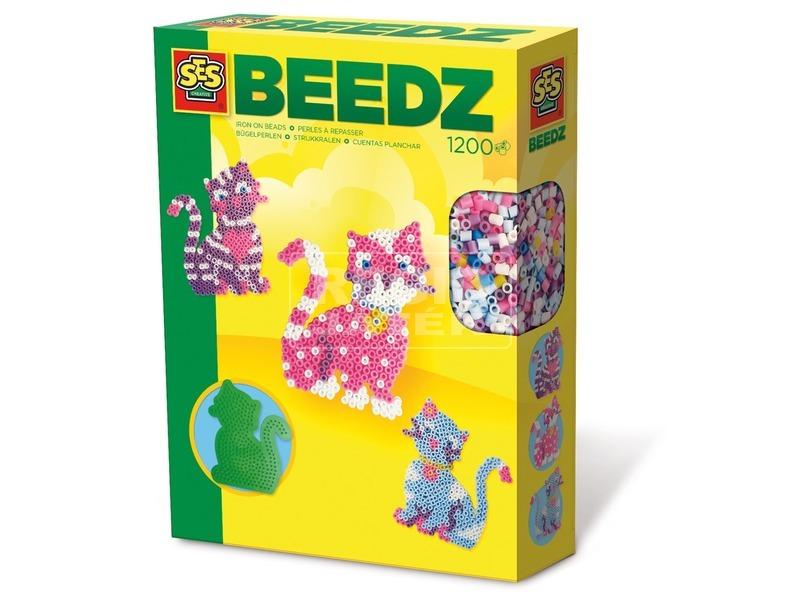 SES cica vasalható gyöngy 1200 darabos készlet