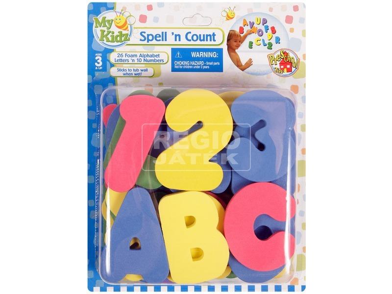 Szivacs betűk és számok 36 darabos készlet
