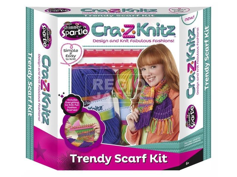 Cra-Z-Knitz trendi sálkötő készlet