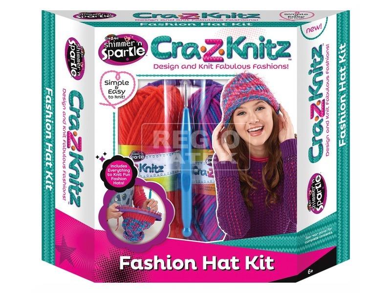 Cra-Z-Knitz trendi sapkakötő készlet