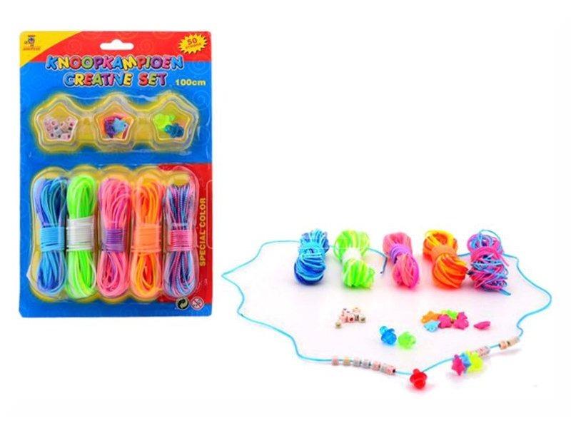 Scoubidou fűzős játék gyöngyökkel