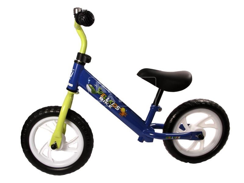 kép nagyítása Fém futóbicikli csengővel - kék-zöld