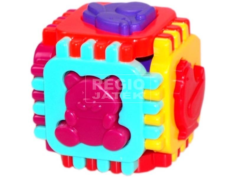 Formaválogató kocka 12 darabos bébijáték - 12 cm