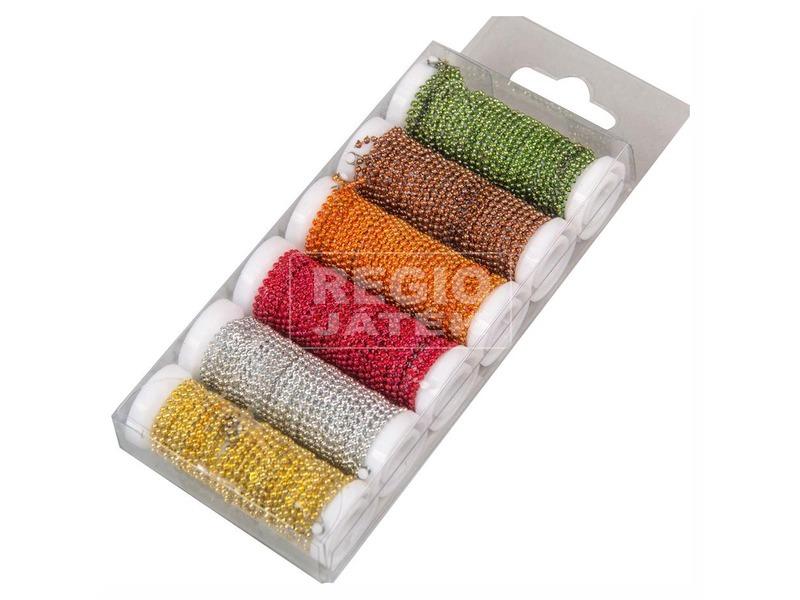 Színes mini gyöngy tekercs x6 ANY