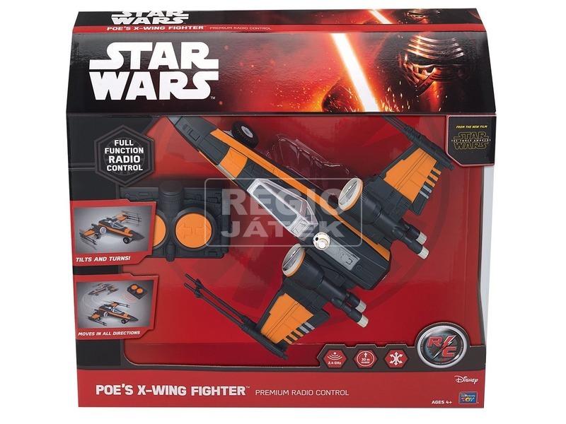 Star Wars: Az Ébredő Erő távirányítós X-Wing Fighter - 26 cm