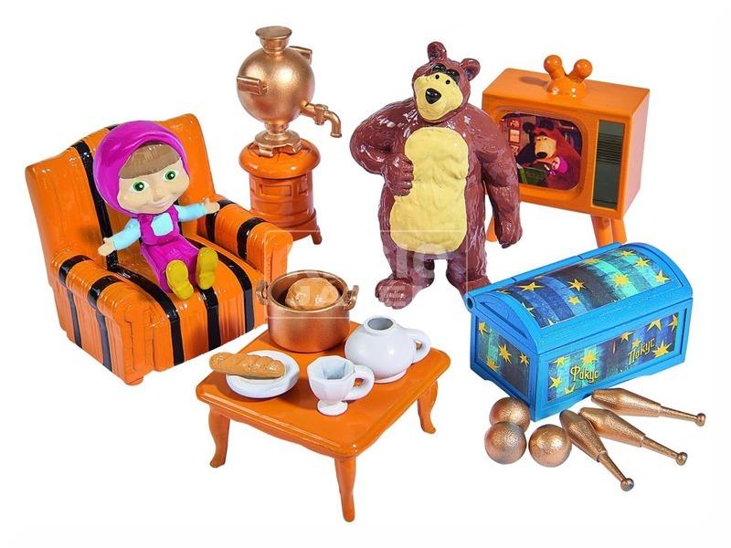 Masha és a medve mackóház játékkészlet