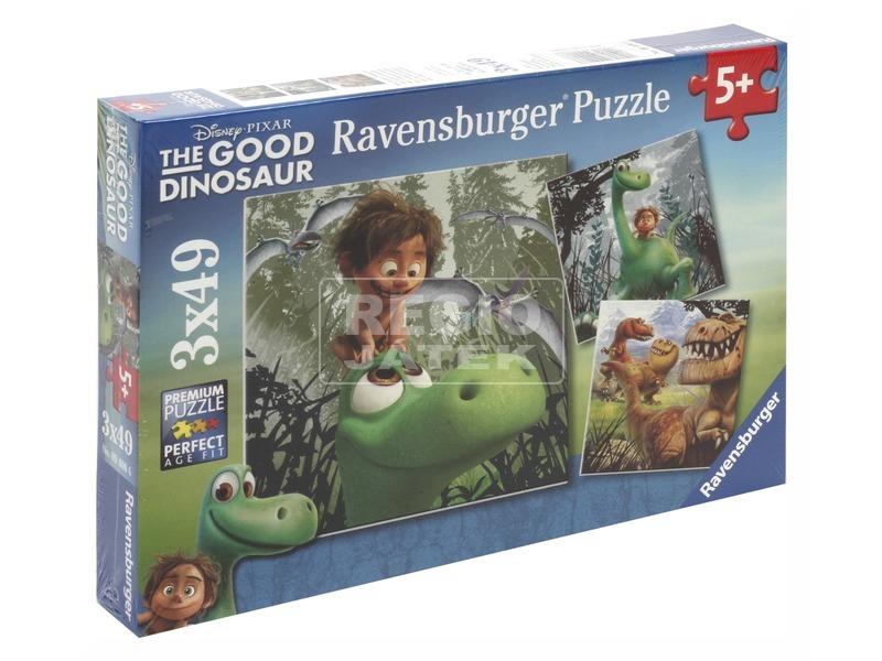 Puzzle 3x49 db - Dínó Tesó
