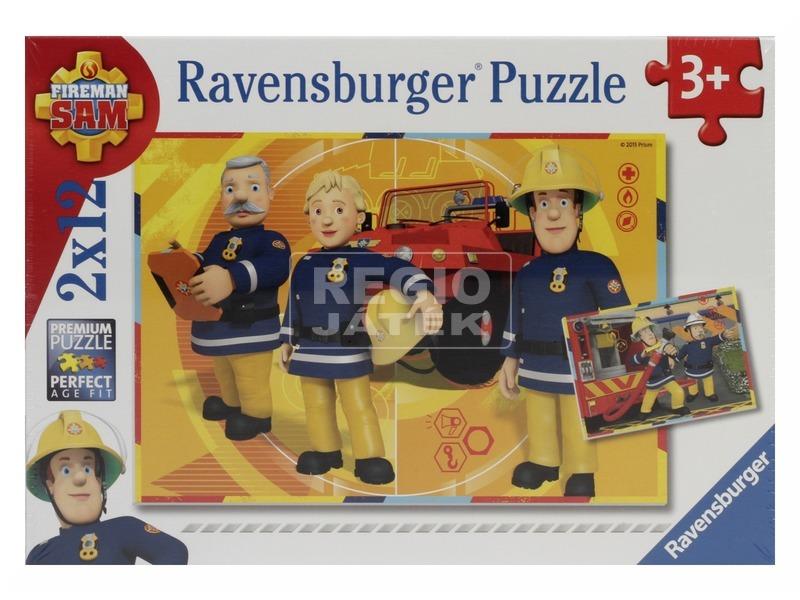kép nagyítása Sam a tűzoltó 2 x 12 darabos puzzle