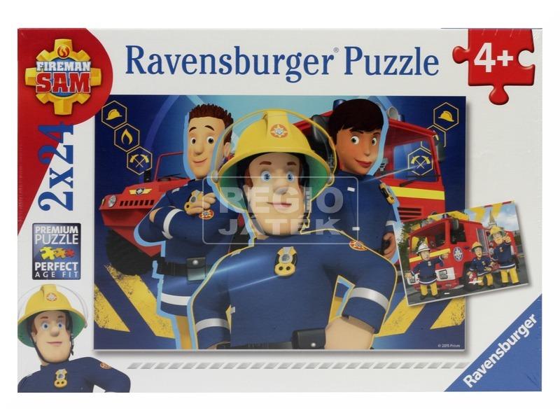 kép nagyítása Puzzle 2x24 db - Sam a tűzoltó