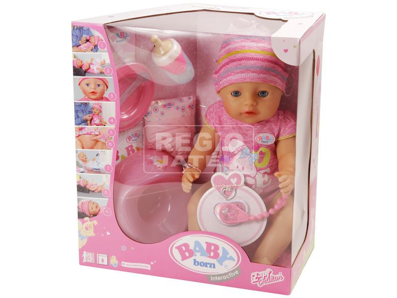 Baby Born nyolcfunkciós lány baba