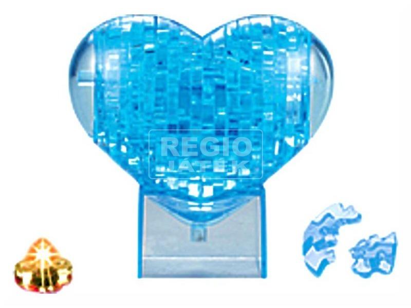 kép nagyítása Szív 40 darabos kristály puzzle - kék