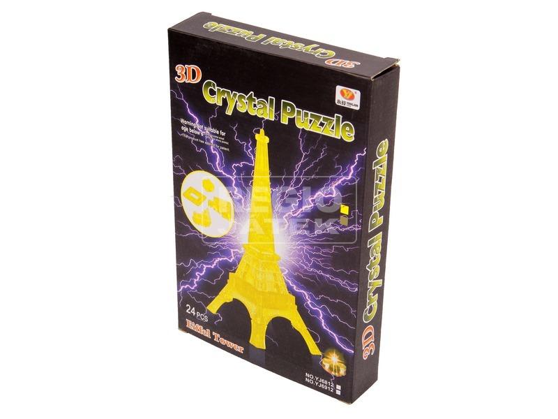 Eiffel torony 24 darabos világító kristály puzzle