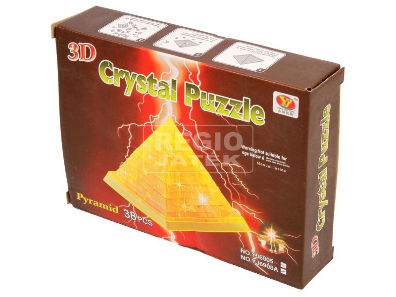 Piramis 38 darabos világító kristály puzzle - többféle