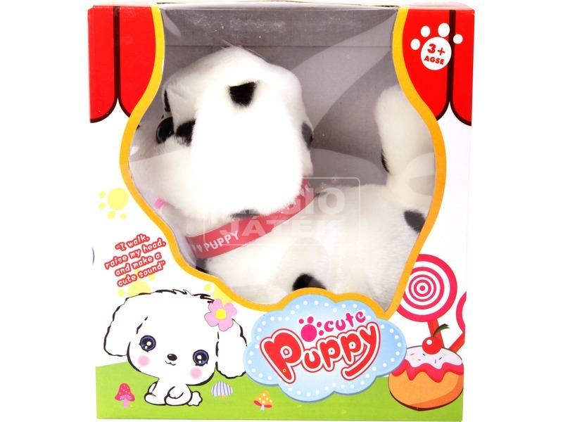 Dalmata kutya sétáló plüssfigura - 16 cm