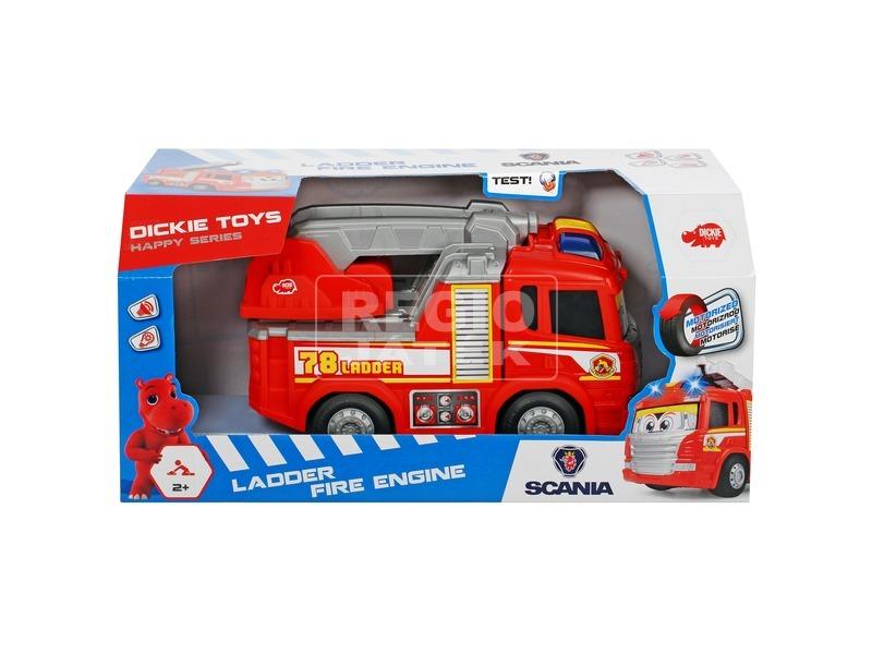 Dickie Happy Car Scania tűzoltó autó - 25 cm