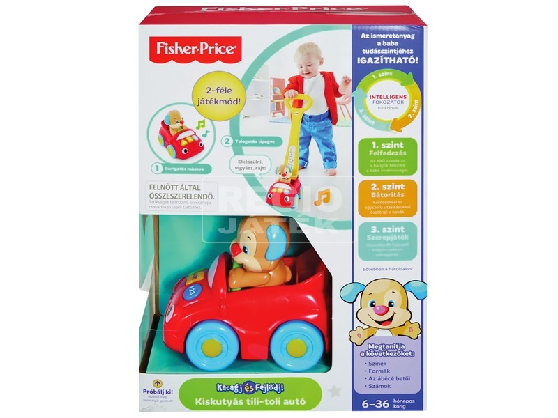 Fisher-Price Kiskutyás tili-toli-autó