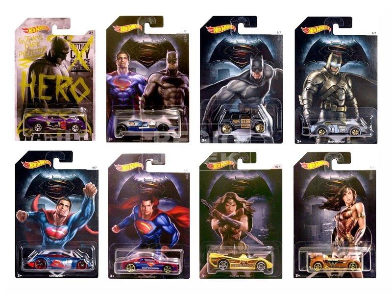 Hot Wheels DC Batman vs Superman kisautók DJL