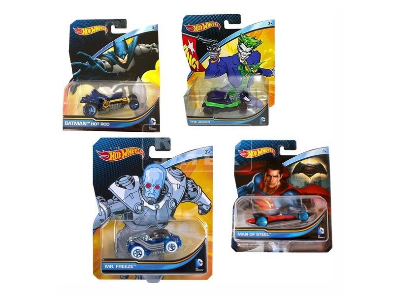 Hot Wheels DC karakter kisautó - többféle
