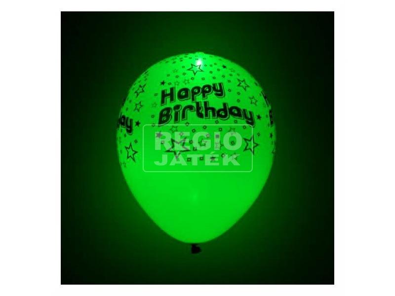 kép nagyítása 5db-os, Happy Birthday, LED-es, latex lufi WL
