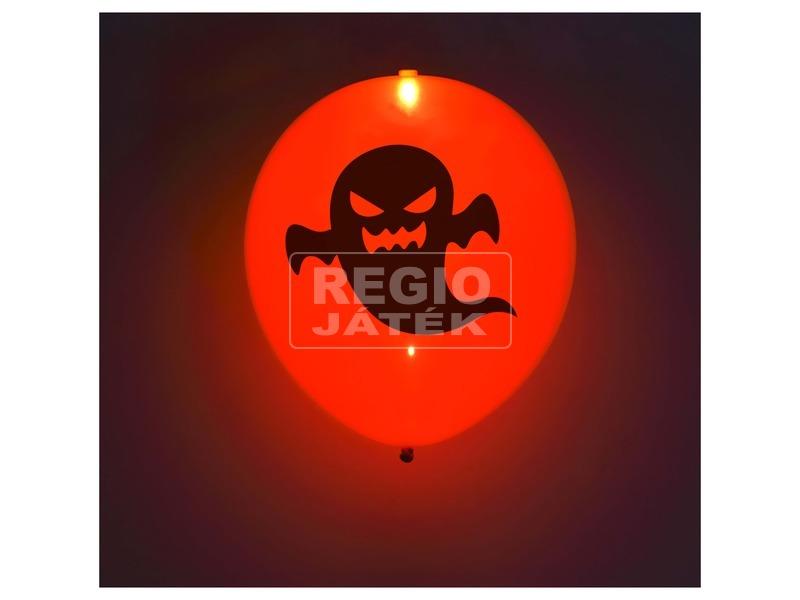 5db-os, Halloween mintás, LED-es, latex lufi WL