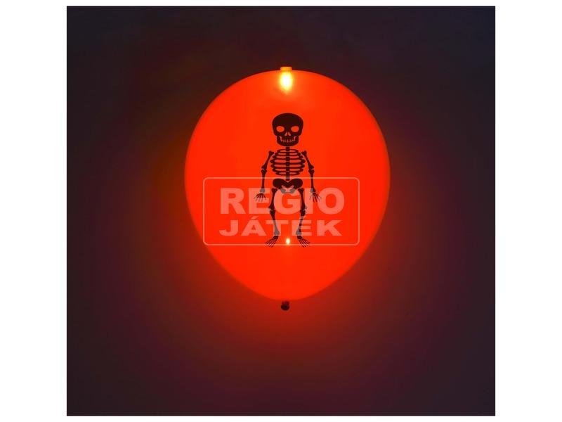 kép nagyítása 5db-os, Halloween mintás, LED-es, latex lufi WL