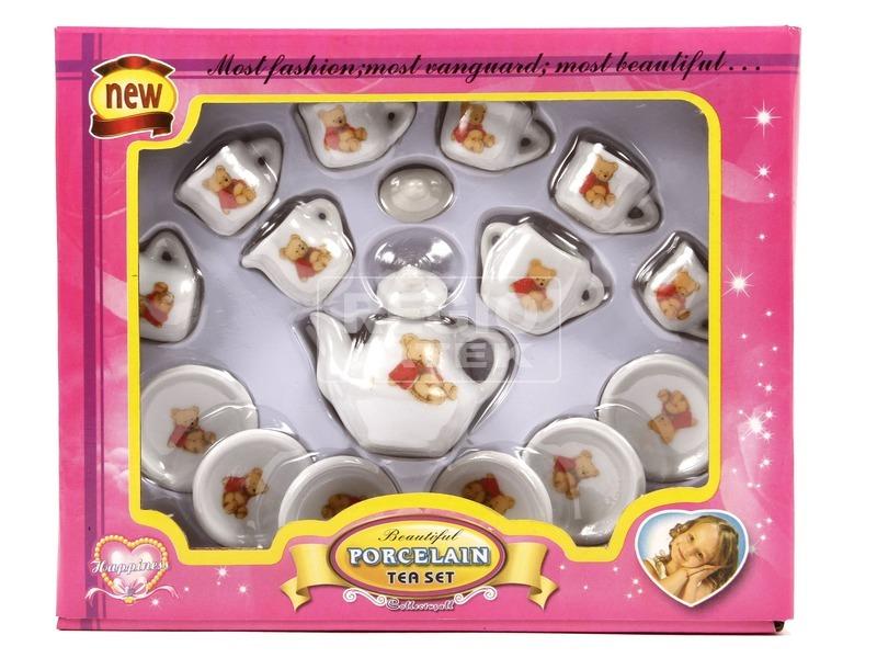 Teás porcelán 17 darabos készlet