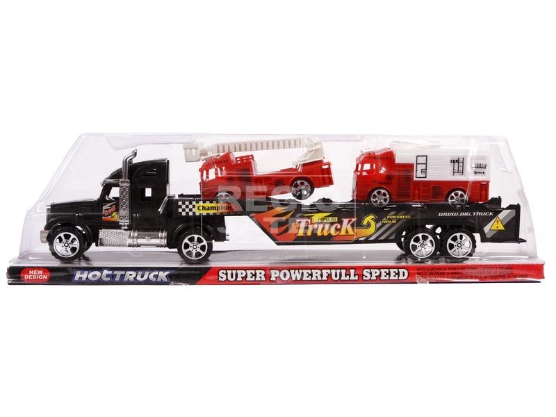 kép nagyítása Tűzoltóautó szállító kamion - 43 cm