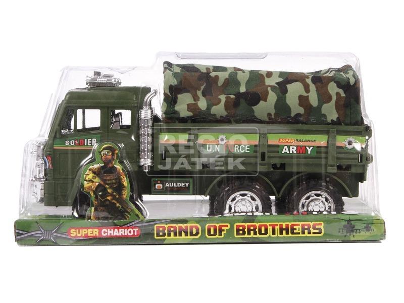 Katonai teherautó ponyvával - 25 cm