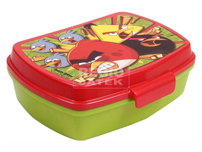 Angry Birds uzsonnás doboz - zöld-piros