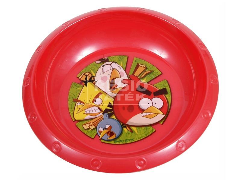 Angry Birds műanyag mélytányér - piros