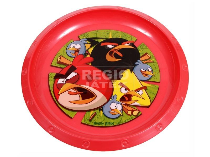 Angry Birds műanyag lapostányér - piros