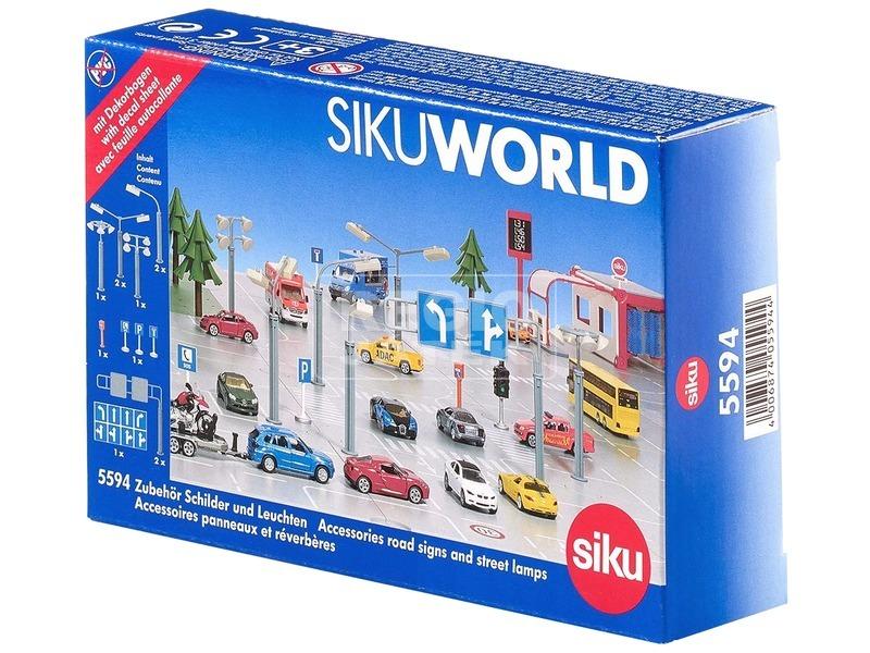 SIKU World jelzőtábla és lámpa készlet - 5594