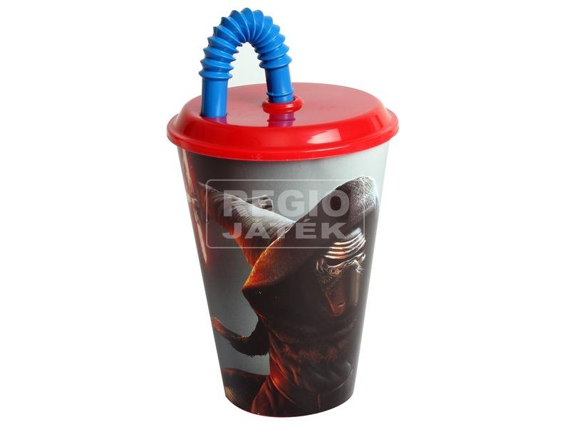 Star Wars: Kylo Ren pohár szívószállal - 430 ml