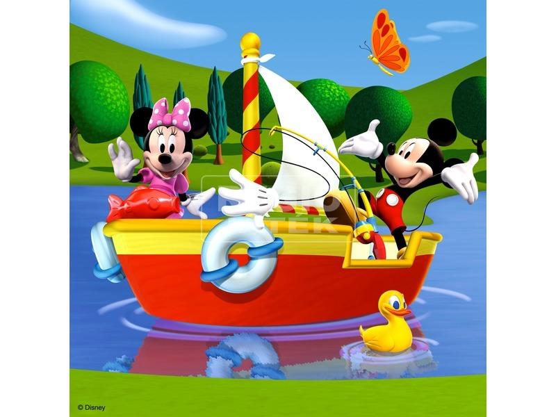 kép nagyítása Mikiegér klubháza 3 x 49 darabos puzzle
