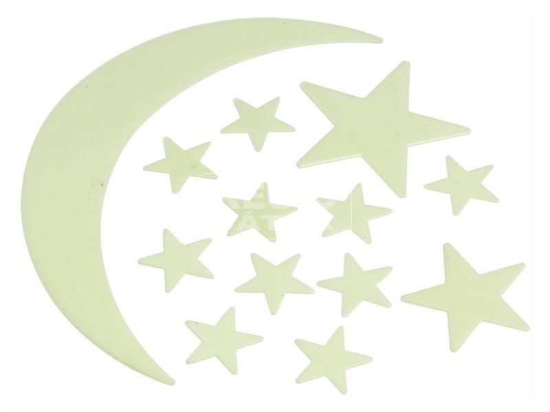 Fluoreszkáló hold + csillagok