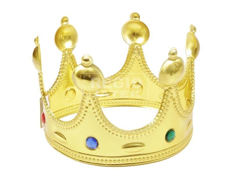 Tépőzáras királyi korona - 17 cm