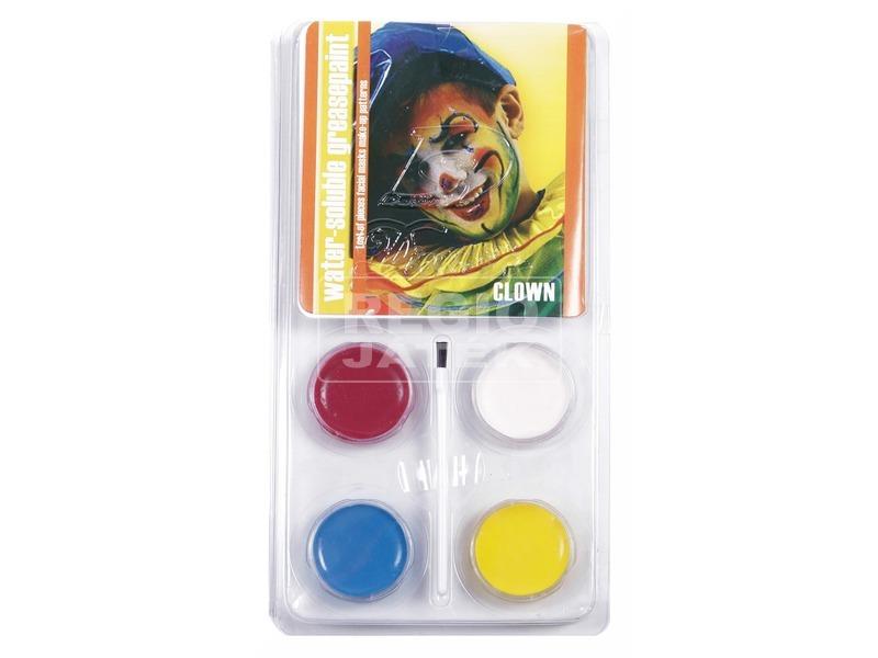 Bohóc 4 darabos arcfesték